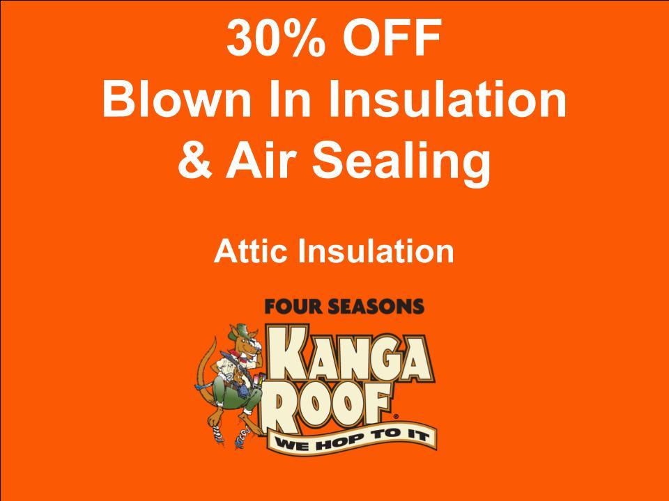 Blown In Insulation 30 Precent - Current Specials